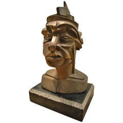 Abstract Bronze Head by Matt Harvey
