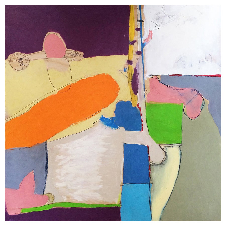 Vibrant Abstract Expressionist Painting by John Luckett