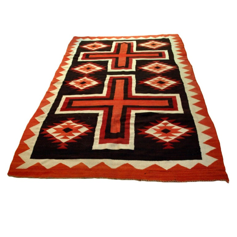 Antique Handwoven Navajo Rug At 1stdibs