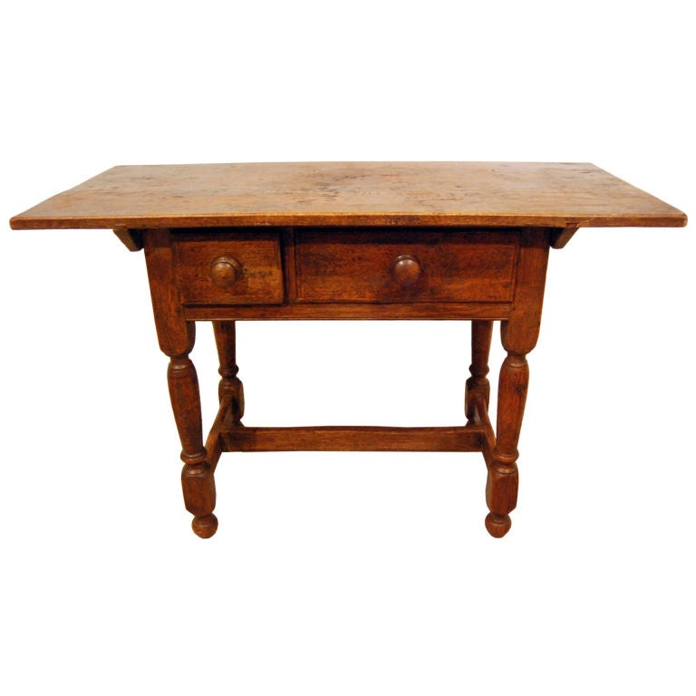 Spanish Revival Side Table with Drawers at 1stdibs