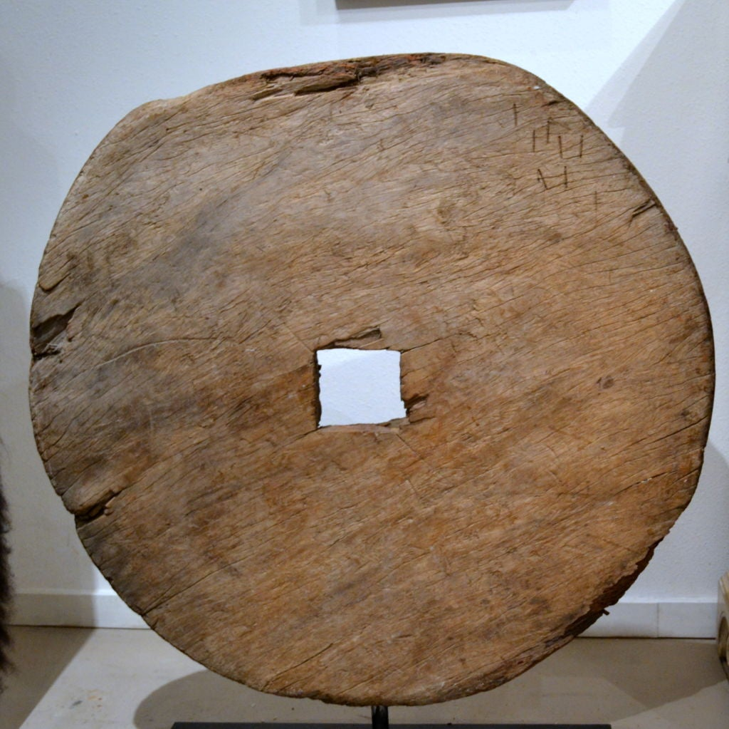 Antique Asian Wood Wheel At 1stdibs