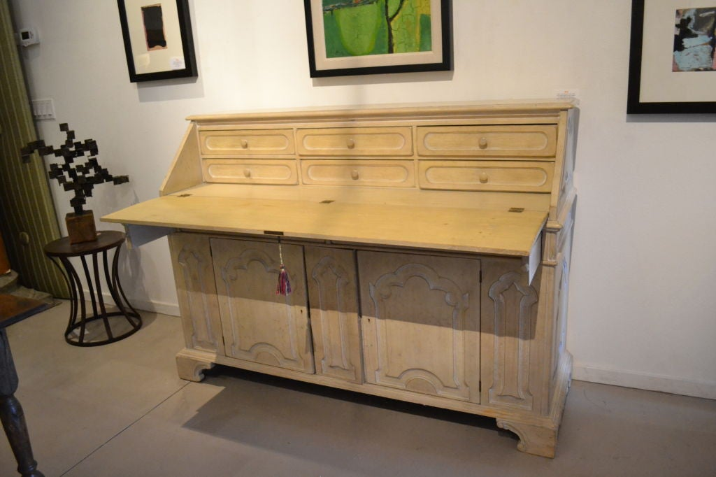 Grand Scale French Secretary With Flip Down Top At 1stdibs
