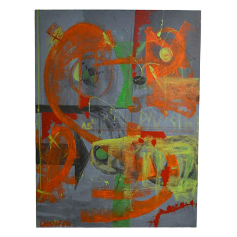 Abstract Painting By Artist Christopher Shoemaker For Sale At 1stdibs