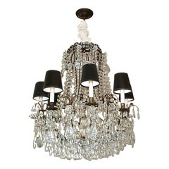 19th Century French Cut Crystal Chandelier