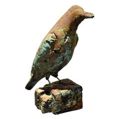 Bird Sculpture in Copper