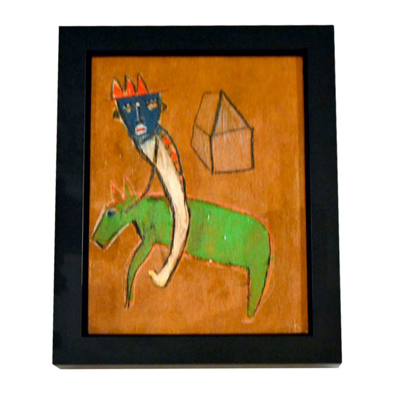 Abstract Horse and Rider Painting by Karl Mullen