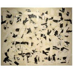 Black & White Abstract Painting by Christopher Shoemaker