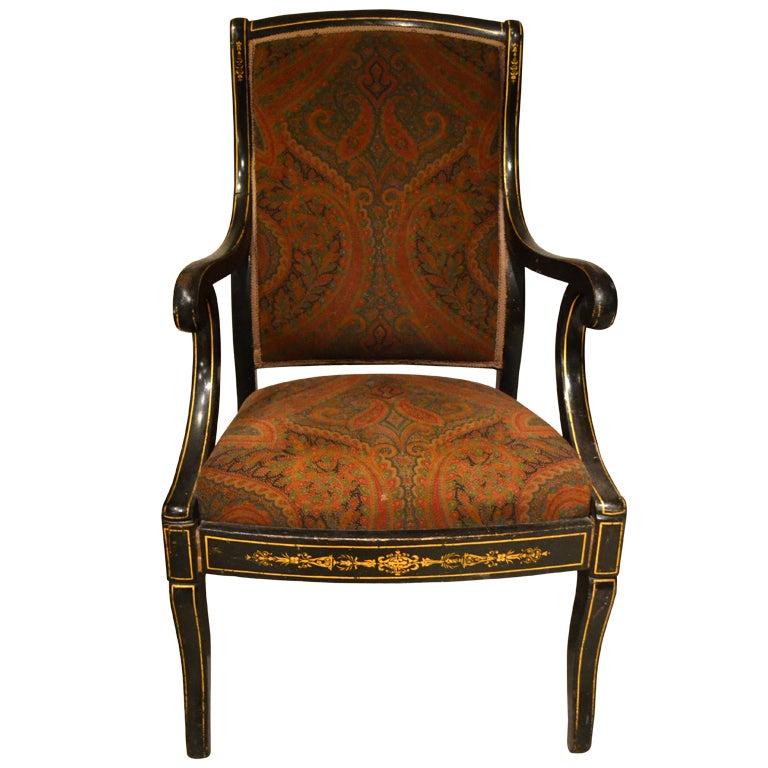 Vintage italian ebony arm chair at 1stdibs for Retro italian xxx