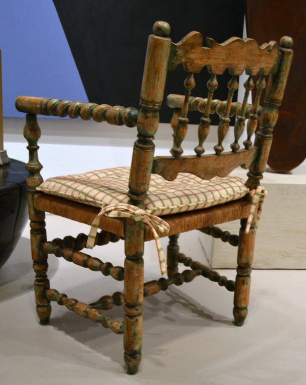 Country french spindle arm chair at stdibs