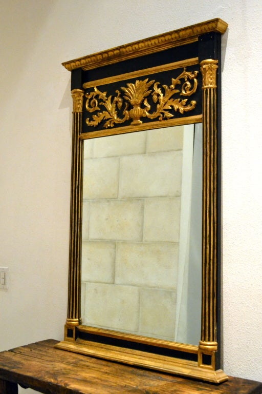 Hair Style Mirror : Neo-Classic Empire Style Mirror For Sale at 1stdibs