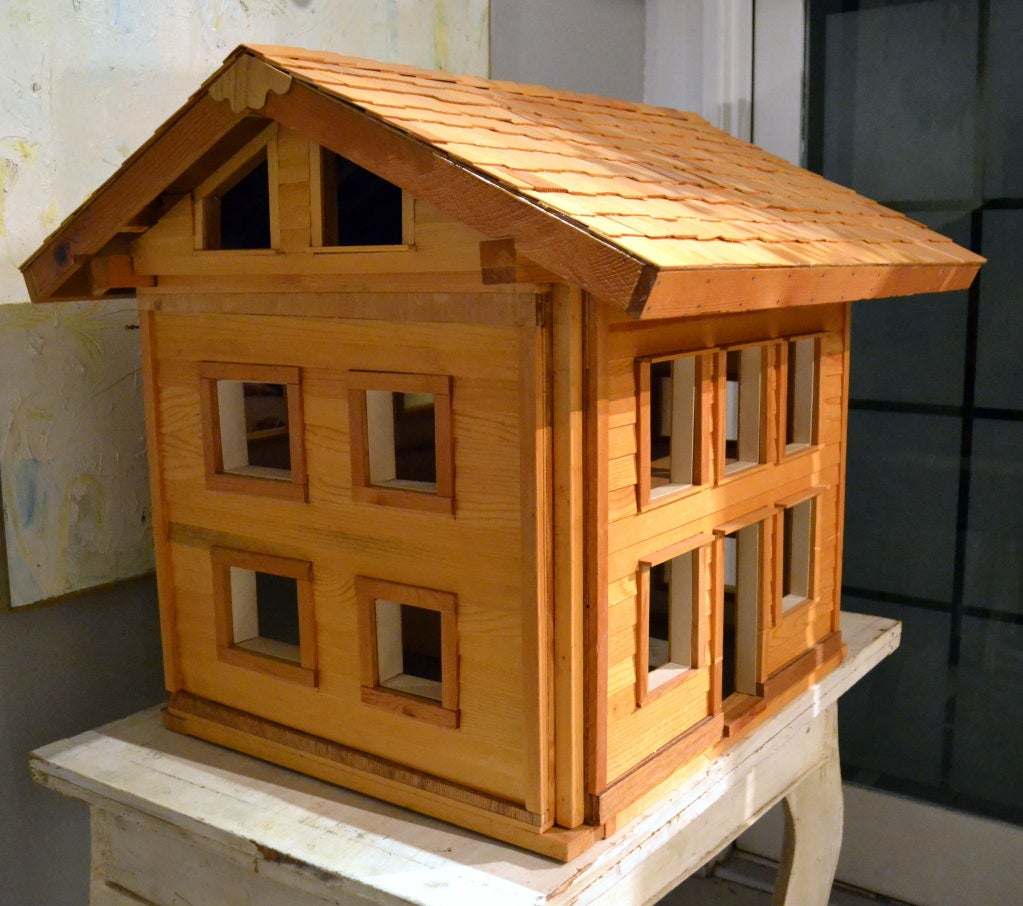 Architectural Model 2 Story Wood House At 1stdibs
