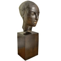 Bronze Head of a Lady by William Lasansky