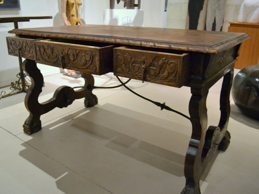 19th C Spanish Colonial Revival Table Desk At 1stdibs