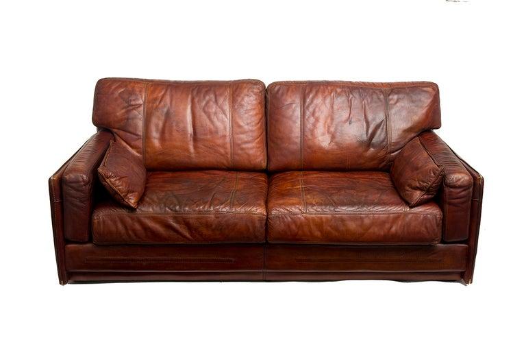 Mario Bellini Buffalo Leather Sofa 3