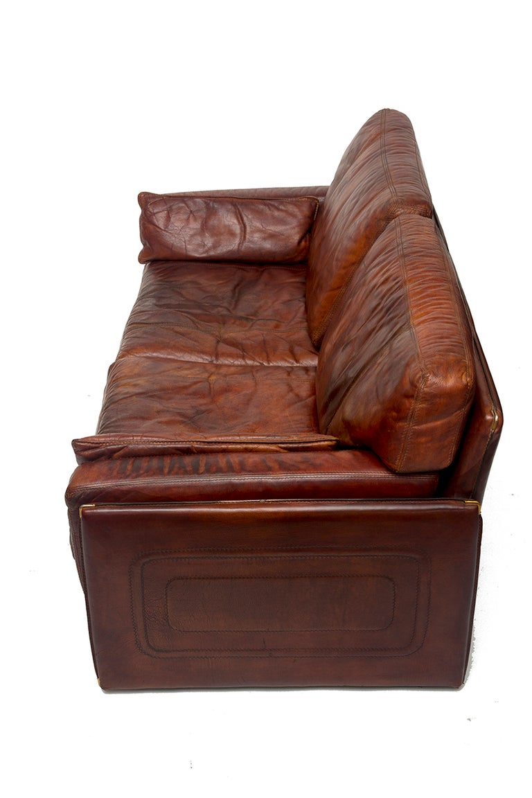 Mario Bellini Buffalo Leather Sofa At 1stdibs