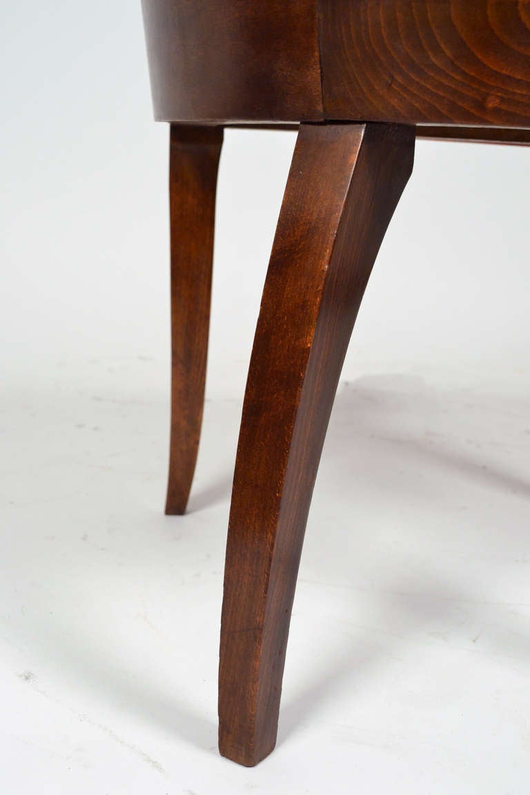 deco set of 6 leather chairs at 1stdibs