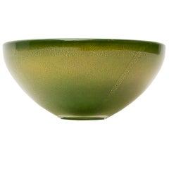"""Green Murano """"Avventurina"""" Glass Bowl"""