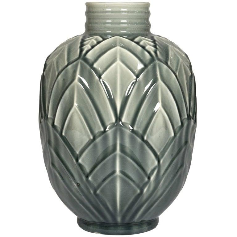 french vallauris art deco majolica vase at 1stdibs. Black Bedroom Furniture Sets. Home Design Ideas
