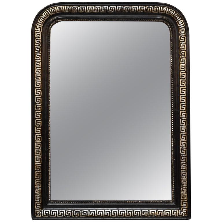 Louis Philippe Ebonized Greek Key Mirror At 1stdibs