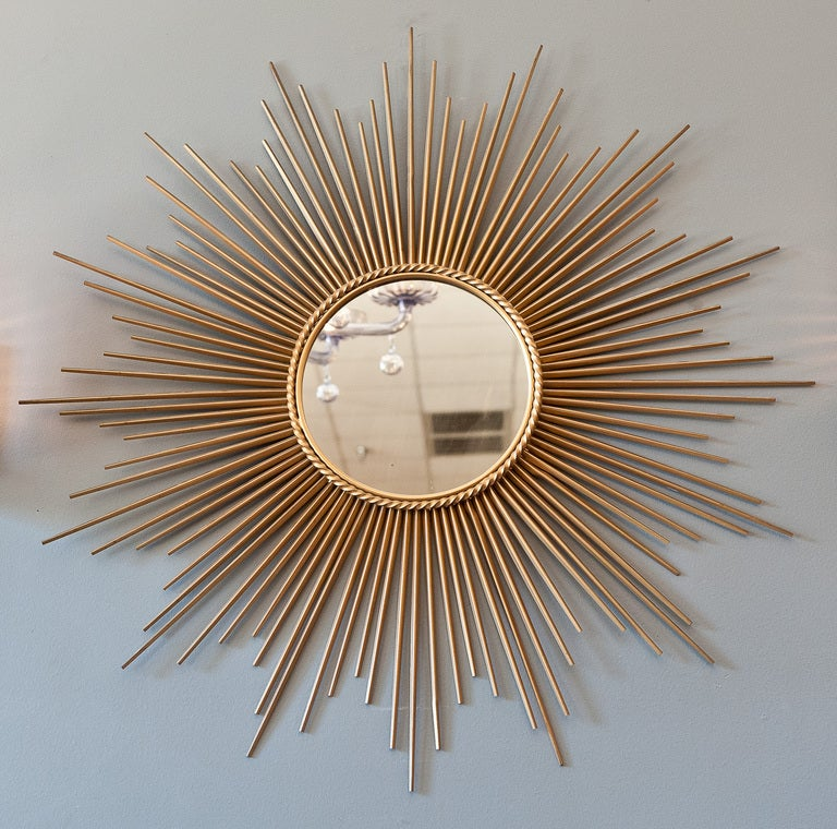 Gilt brass sunburst mirror at 1stdibs for Sunburst mirror