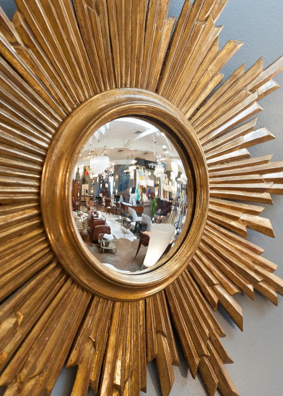 Convex Gilded Sunburst Mirror From Spain At 1stdibs