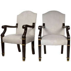Pair of French Restauration Armchairs