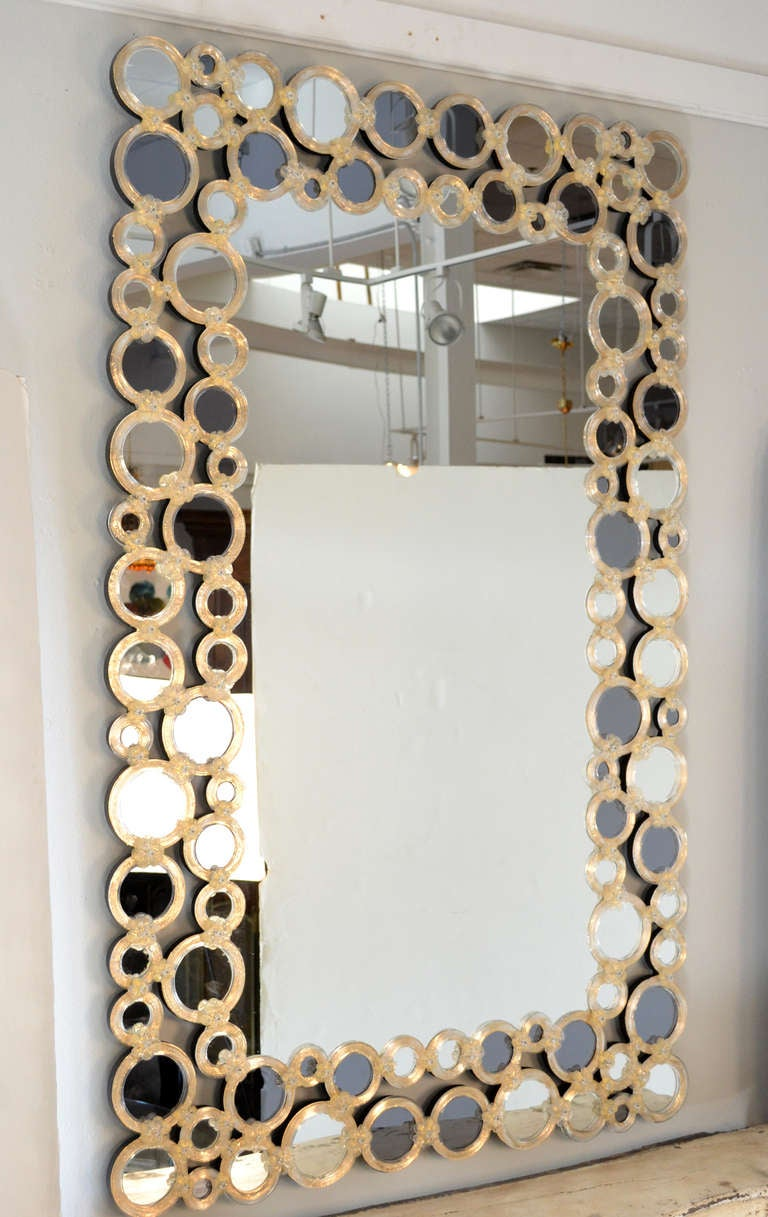 Magnificent venetian glass mirror at 1stdibs for Home decorating mirrors