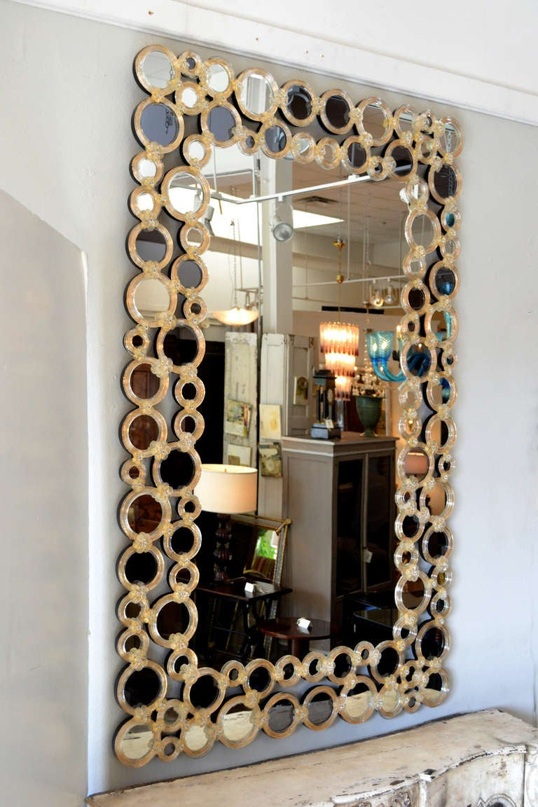 Magnificent Venetian Glass Mirror At 1stdibs