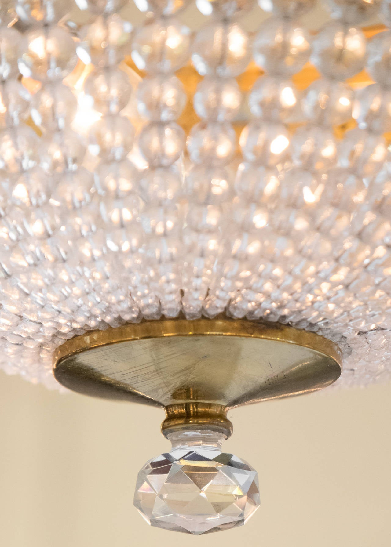 French Empire Style Crystal Ceiling Fixtures At Stdibs