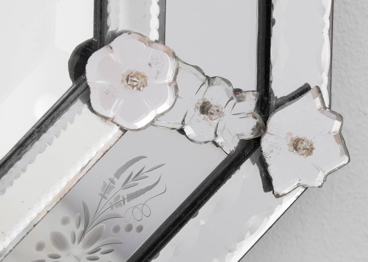 Antique Italian Mirror of Venetian Glass For Sale 4