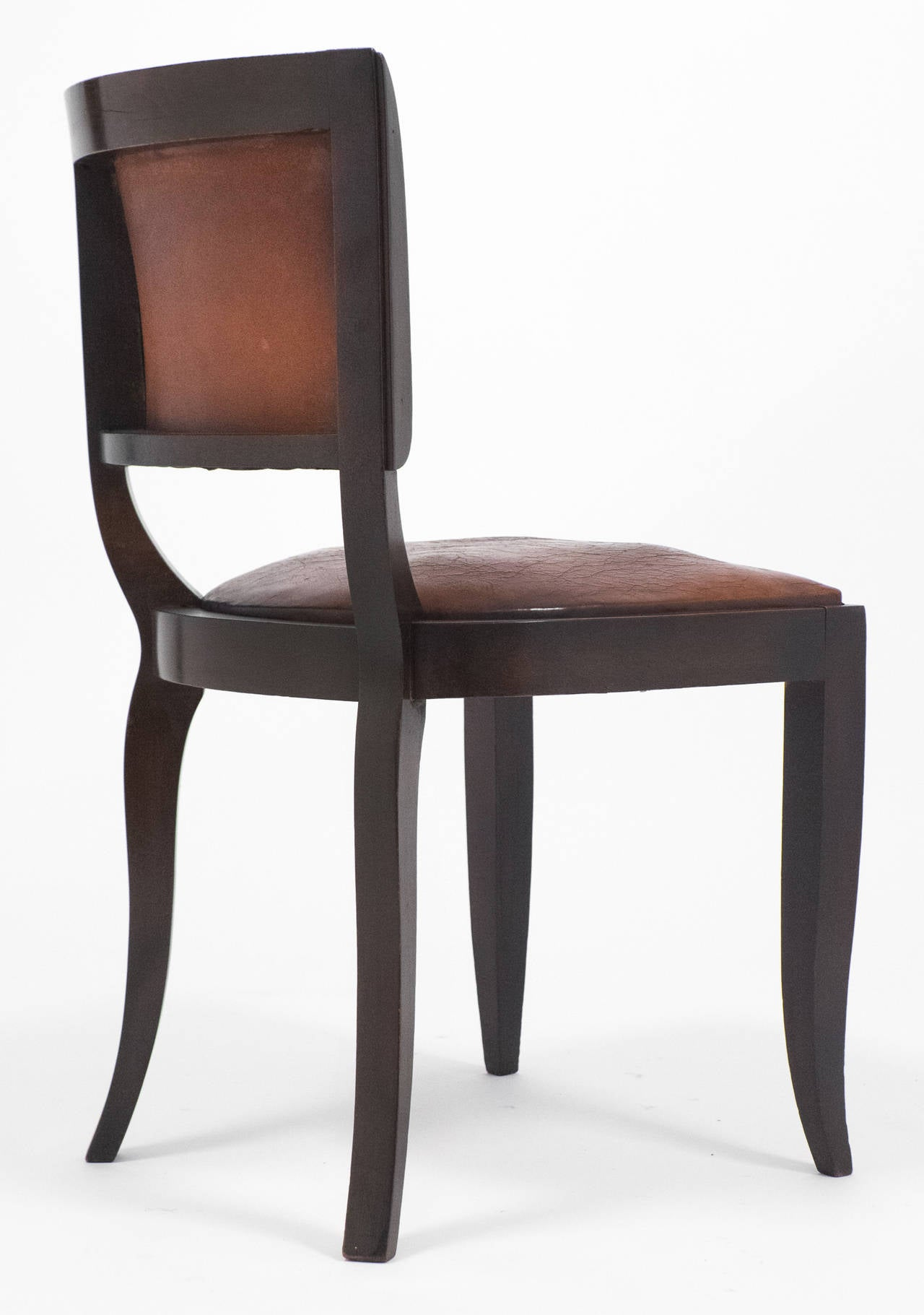 French Art Deco Set of Six Leather Dining Chairs at 1stdibs : 14E52frenchvintagesetofsixleatherdiningchairsfl from www.1stdibs.com size 1280 x 1821 jpeg 113kB