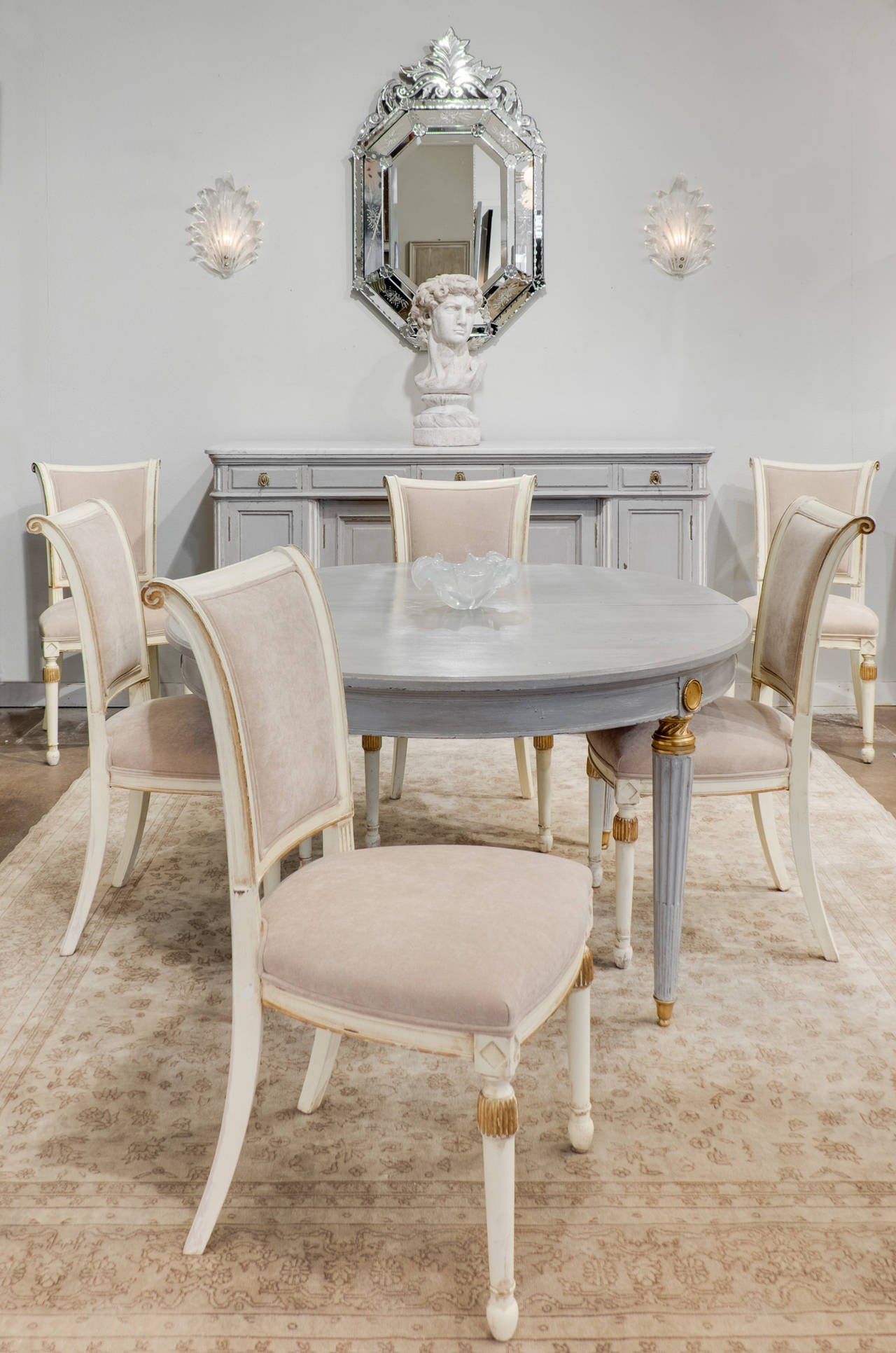 french directoire style set of six dining chairs at 1stdibs