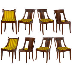French Empire Set of Eight Gondola Chairs