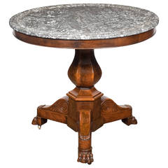 French Empire Period Marble-Top Gueridon