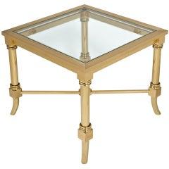 Maison Jansen Gilt Brass and Glass Side Table