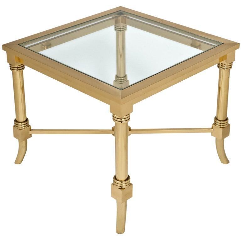 maison jansen gilt brass and glass side table for sale at. Black Bedroom Furniture Sets. Home Design Ideas