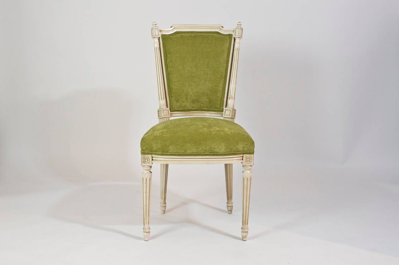 French Antique Louis XVI Set Of Six Dining Chairs Image 3