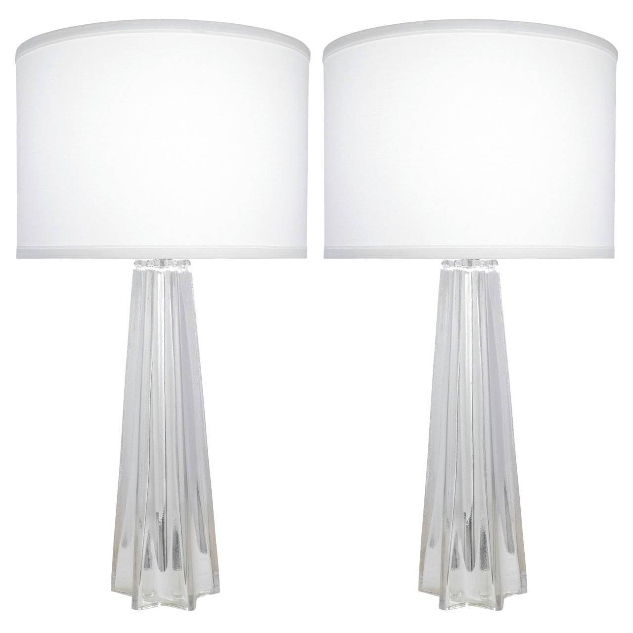 Murano Mercury Glass, Pair of Table Lamps