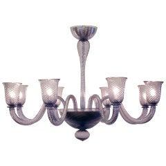"""8 Branch """"Viola"""" Murano Glass Chandelier"""