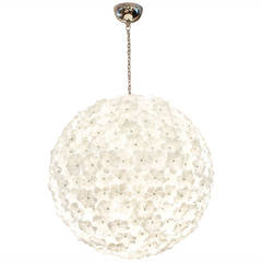 Monumental Murano Glass Flower Chandelier by Cenedese
