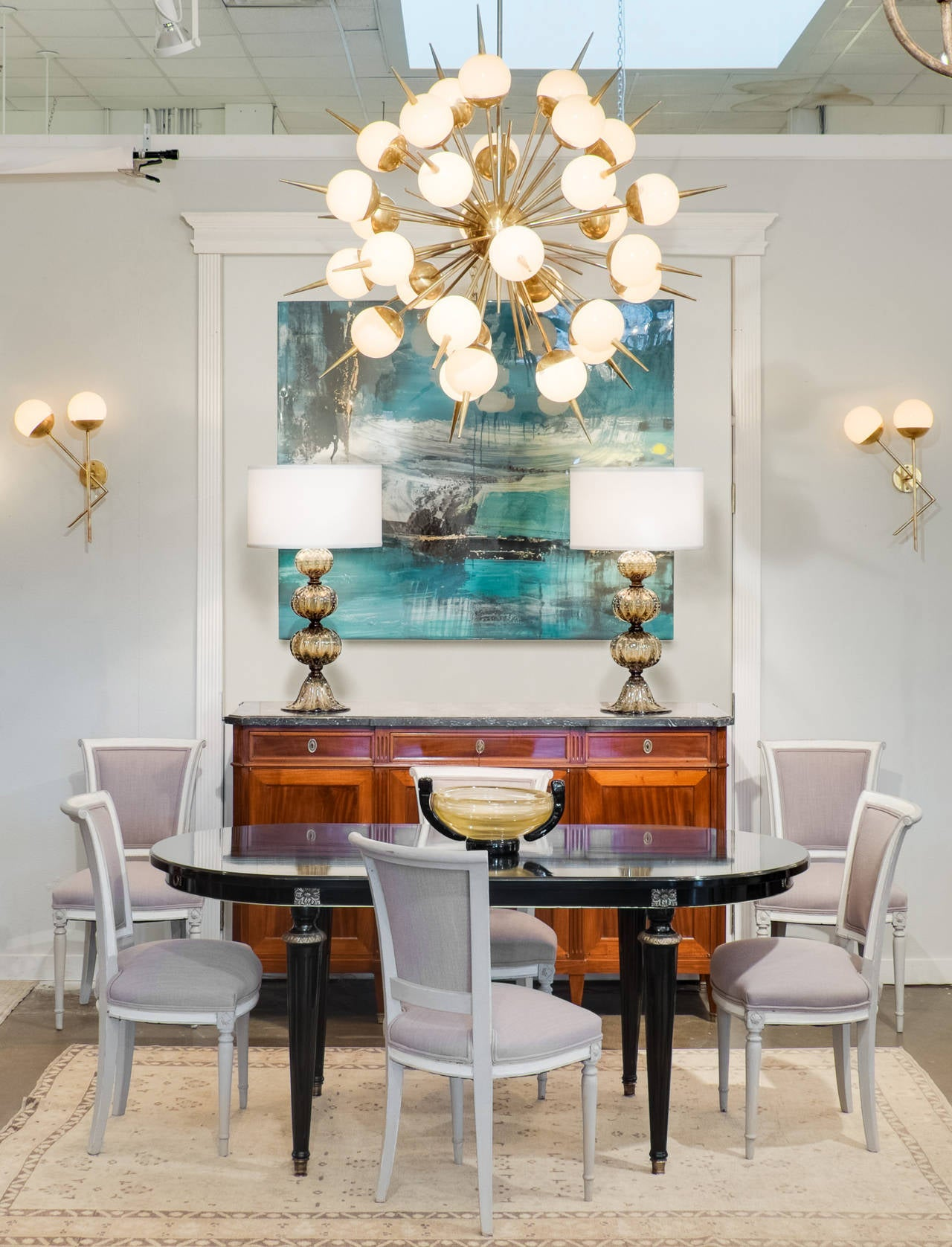 murano due lighting living room dinning. Amazing Sputnik Chandelier With 30 Branches Mounted Murano Blown Glass Spheres And Their Pointed Finials Due Lighting Living Room Dinning C