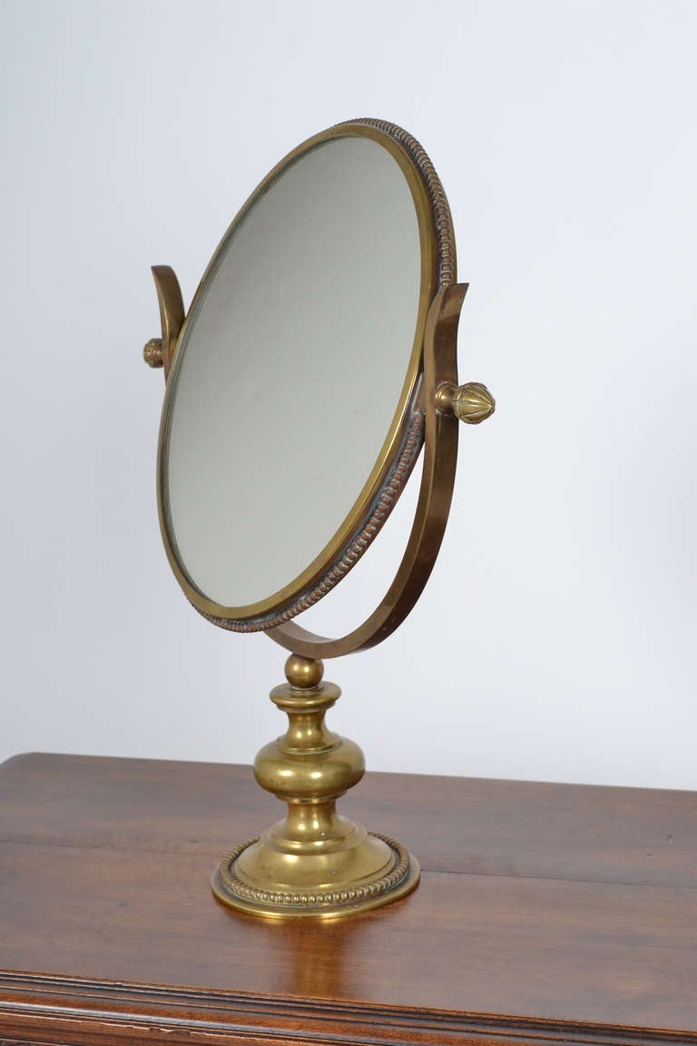French Brass Neoclassical Table Mirror At 1stdibs