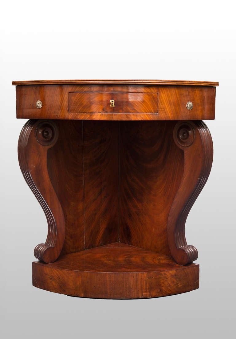 Rare French Restoration Period Corner Console At 1stdibs