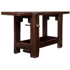 French 19th Century Solid Fir Workbench