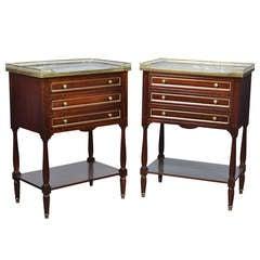 Pair of Louis XVI Mahogany Side Tables