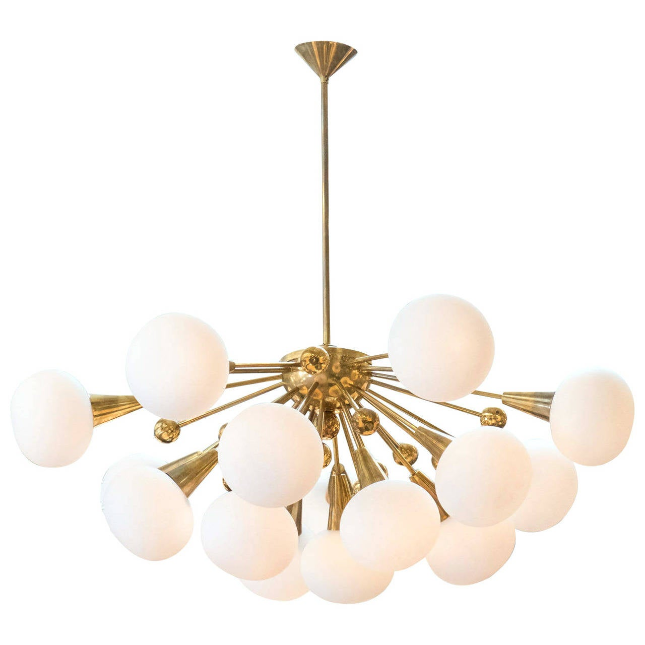 Brass Sputnik Chandelier: Murano Glass Globe and Brass Sputnik Chandelier 1,Lighting