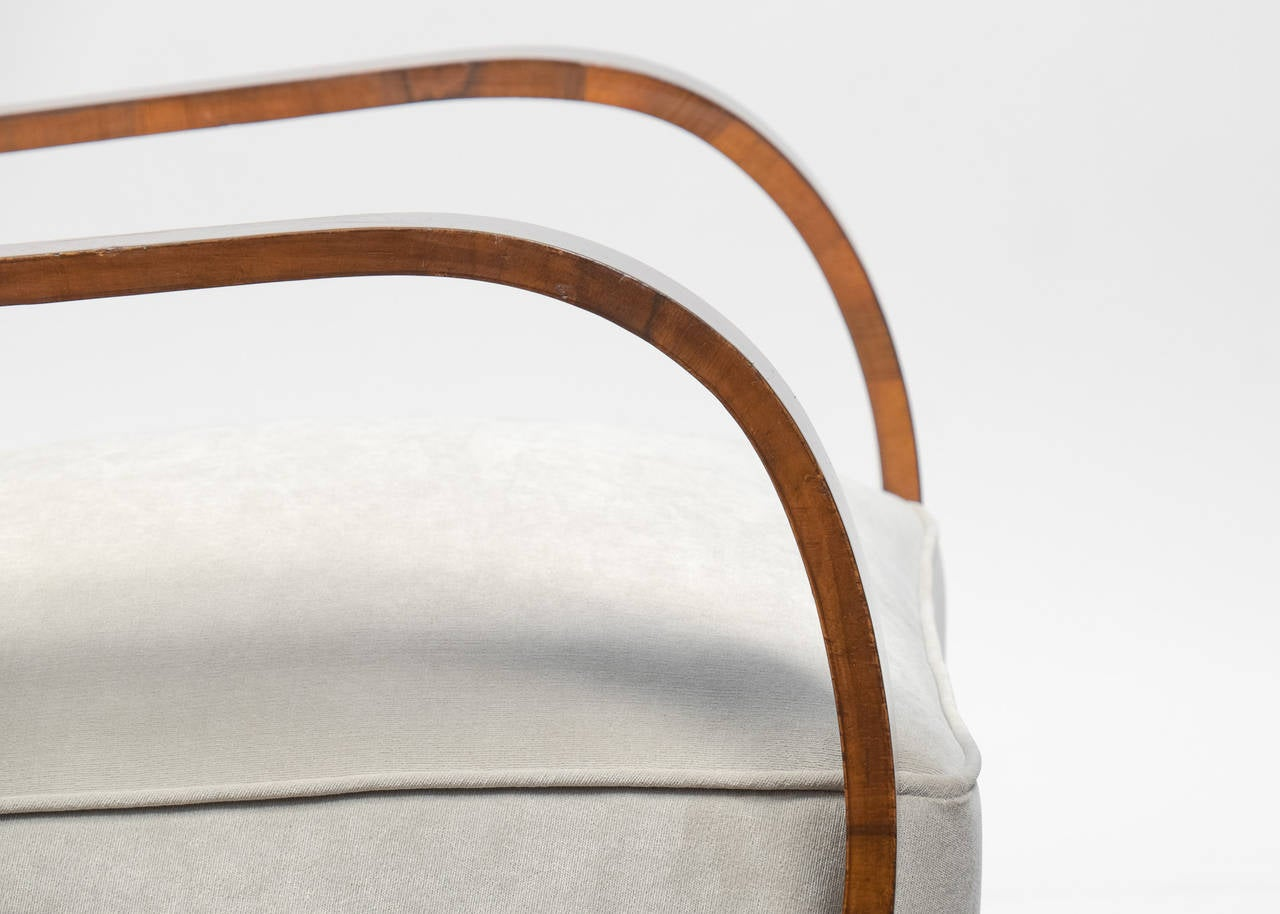 Austrian art deco period pair of armchairs at 1stdibs for Art deco period