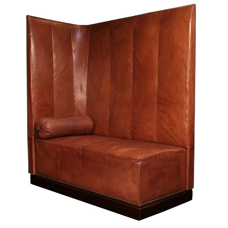 french art deco period leather banquette at 1stdibs. Black Bedroom Furniture Sets. Home Design Ideas
