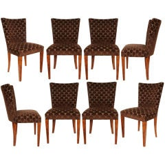 Set of Eight Biedermeier Dining Chairs in Maple