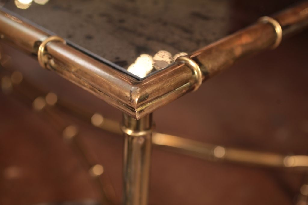 French Art Deco Brass And Glass Coffee Table At 1stdibs